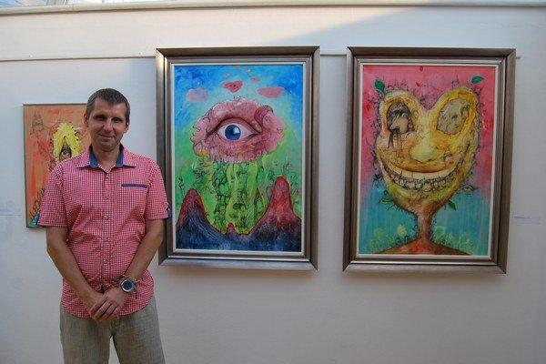 Miroslav Knap v galérii Bazovského.