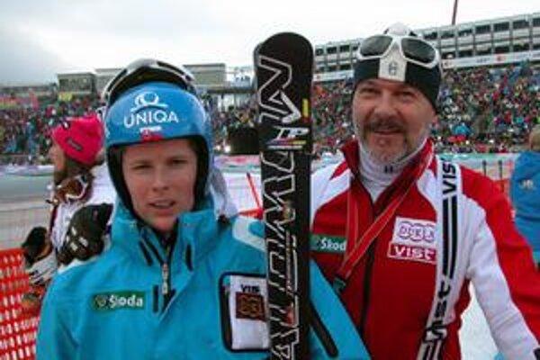 Veronika Zuzulová s otcom Timotejom.