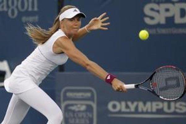 Daniela Hantuchová v zápase proti Marion Bartoliovej.