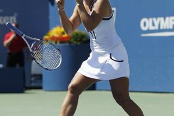 Dominika Cibulková po osemfinálovom víťazstve nad Ruskou Svetlanou Kuznecovovou 7:5, 7:6 (4).