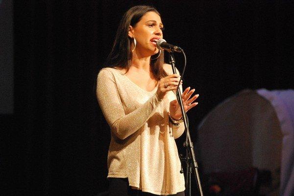Anita Soul počas svojho myjavského vystúpenia.