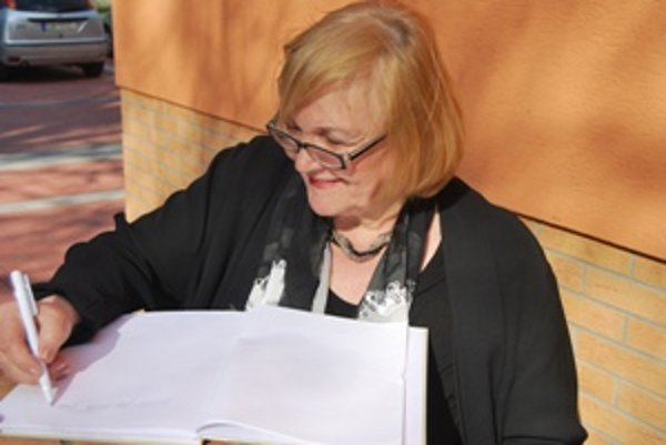 Zita Furková po udelení divadelného ocenenia.