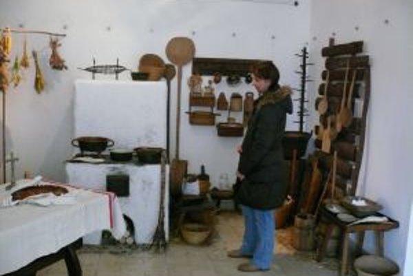 Pre návštevníkov organizátori pripravili aj ukážku ľudovej domácej kuchyne.