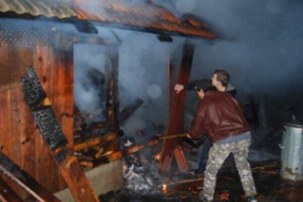 V Novej Lehote zhorela hospodárska budova