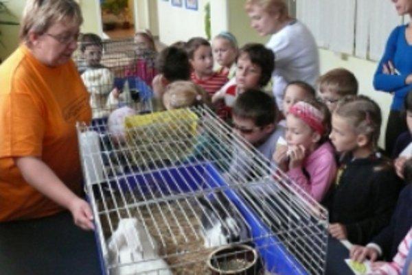 Deti na výstave najviac zaujali domáce zvieratká.