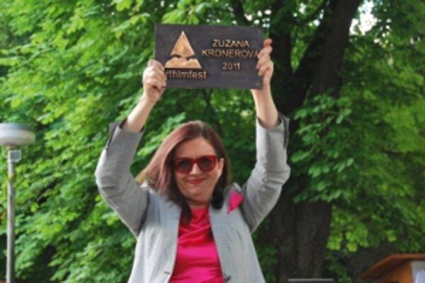 Zuzana Kronerová si Art Film Festu odniesla cenu Hercova misia.