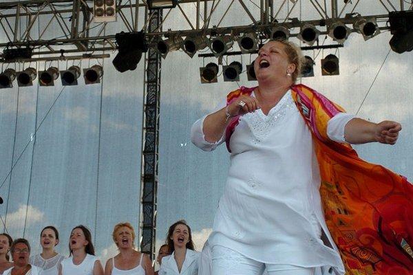 Ida Kelarová počas vystúpenia na Pohode.