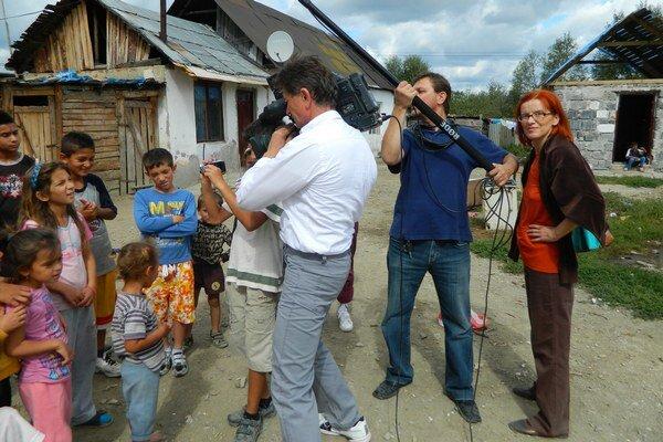 Záber z natáčania. Film vznikal tri roky.