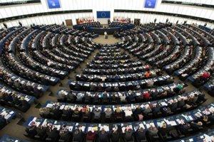 Plénum Európskeho parlamentu.