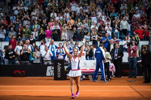 Dominika Cibulková vyhrala proti Kanade oba svoje zápasy.