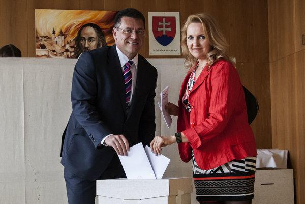 Eurokomisár Maroš Šefčovič s manželkou Helenou.