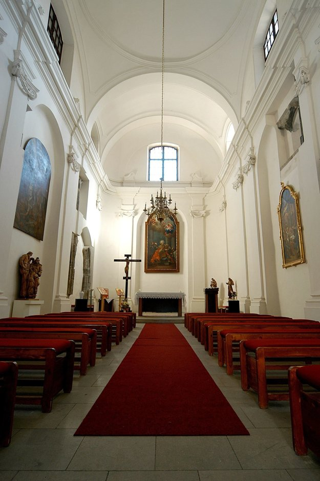 Pohľad do kaplnky na Zvolenskom zámku.