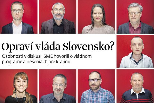 Opraví vláda Slovensko? Diskusia denníka SME.