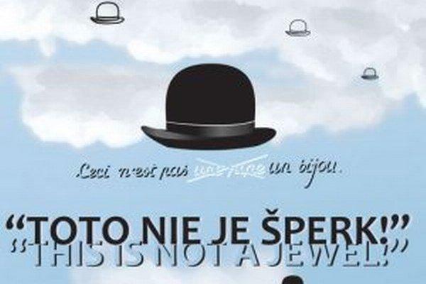 Detail pozvánky na výstavu Toto nie je šperk inšpirovanú René Magritteom.