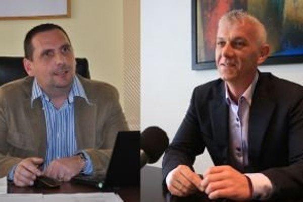 Vo voľbách primátora Žiaru nad Hronom sa proti sebe postavili Peter Antal (vľavo) a Roman Zaťko.