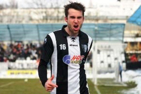 Pri svojom treťom štarte v drese Myjavy premiérový gól Ľubomíra Urgelu.