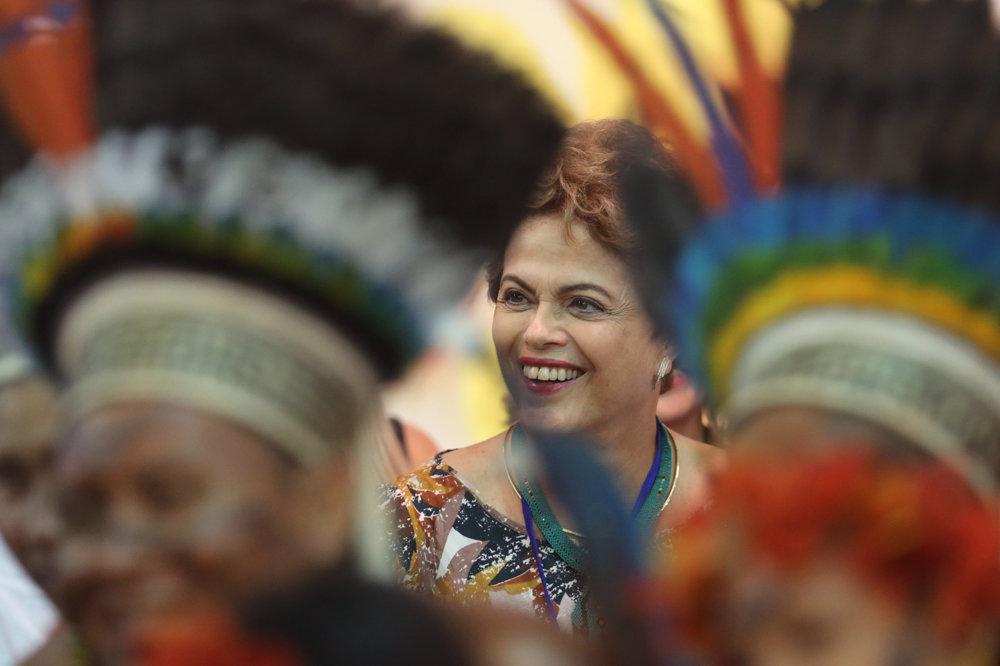 Na hrách sa zúčastnila aj brazílska prezidenta Dilma Rousseffová.