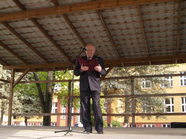 Účastníkom sa prihovoril primátor Poltára Pavel Gavalec