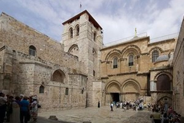 Chrám Božieho hrobu v Jeruzaleme.