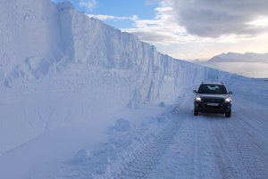 Typická zima na Islande.