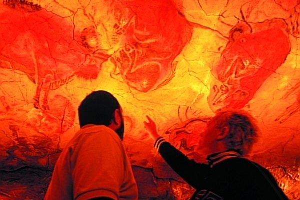 Bizóny v jaskyni Altamira (Španielsko)