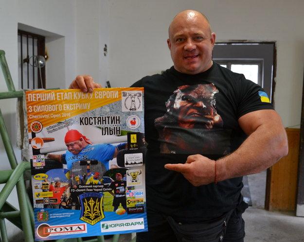 Konstantin Ilin, najsilnejší muž Ukrajiny.
