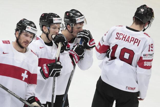 Švajčiarsky koniec na turnaji vyvolal na tvárach hráčov veľký smútok.