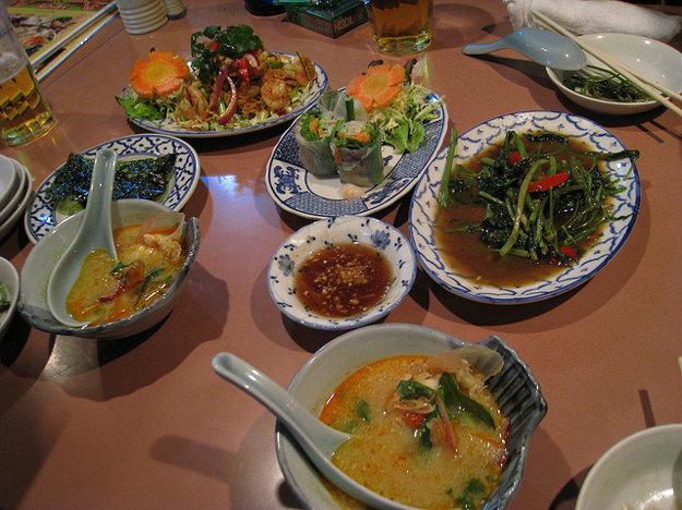 Thajské jedlá bývajú veľmi pikantné.
