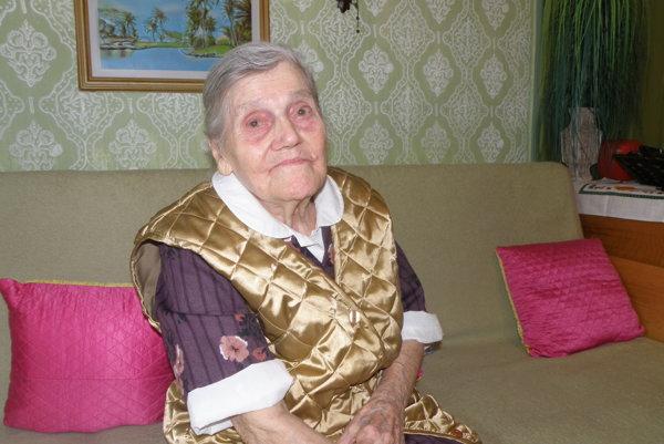 Mária Svrčková z Prievidze sa dožila stovky v apríli tohto roku.