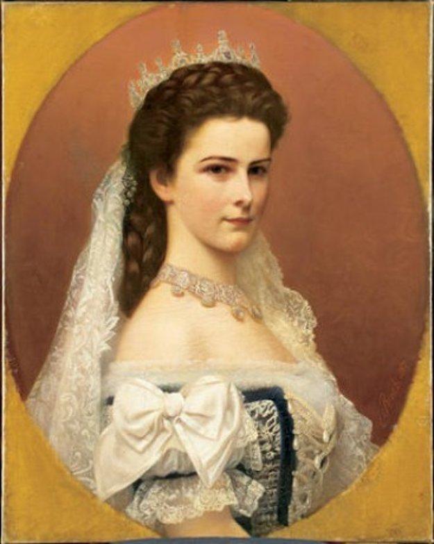 Rakúska cisárovná, Alžbeta Bavorská, prezývaná Sissi.