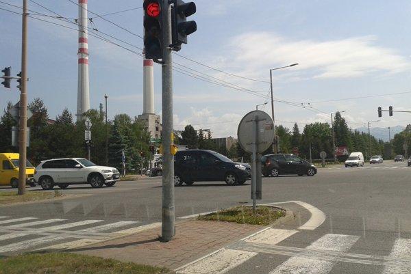 Križovatka na Košickej ulici.