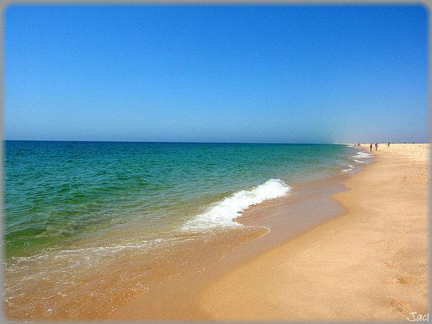 Pláž na Ilha de Tavira.