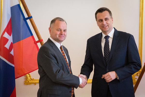 Predseda NR SR Andrej Danko a predseda Parlamentu Nórskeho kráľovstva Olemic Thommessen.