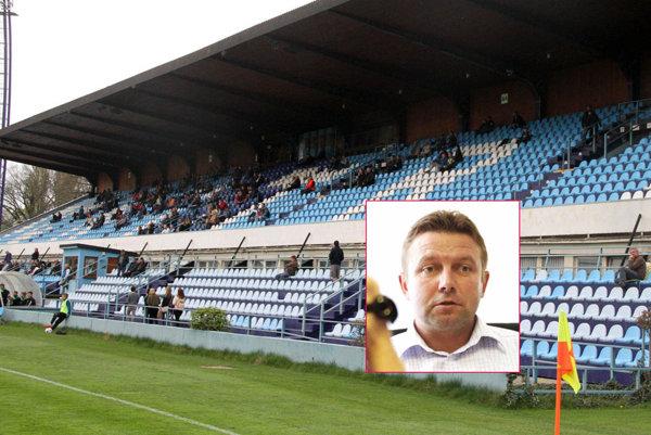 Druholigový futbal v Nitre neláka. Na snímke nový riaditeľ klubu Vladislav Borík.