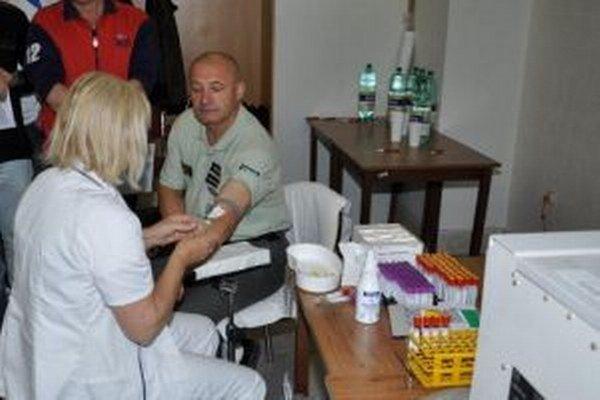 Na Krajskom riaditeľstve PZ v Žiline sa včera konala Policajná kvapka krvi.