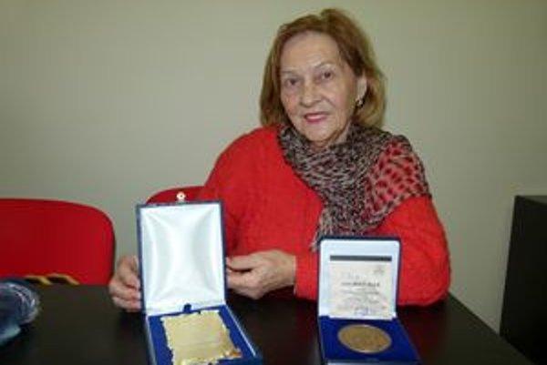 Jubilantka Elena Kolmanová.