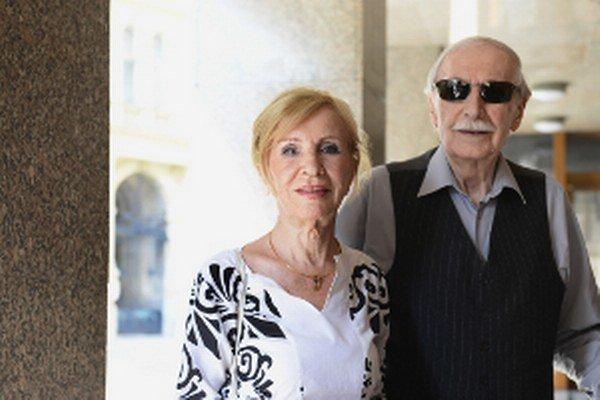 Mária Kráľovičová s Ladislavom Chudíkom.