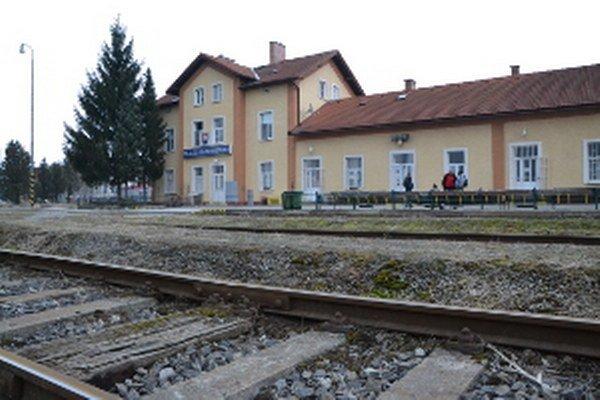 Železničná stanica Skalica na Slovensku.