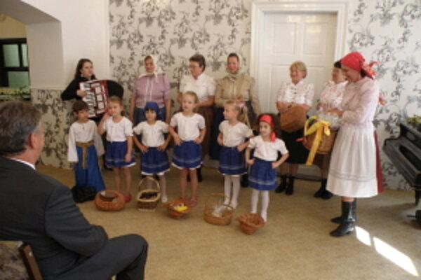 Otvorenie výstavy v Štíbori - kultúrny program.