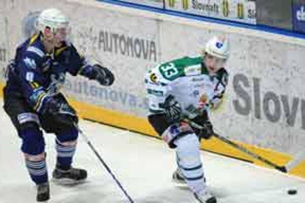 Skalica vyhrala aj bez Pálffyho vyhrala. Na fotke Tibor Kutálek (vľavo).