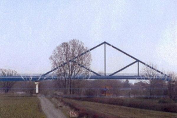 Štúdia mosta v Záhorskej Vsi.