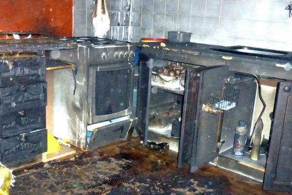 Dôsledok jedného z úmyselne založených požiarov.