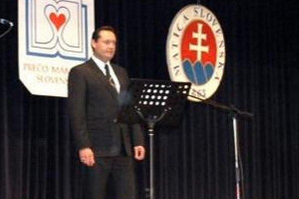 Vystúpenie Otokara Kleina nedávno videli účastníci slávnostného vyhodnotenia celoštátnej literárnej súťaže.