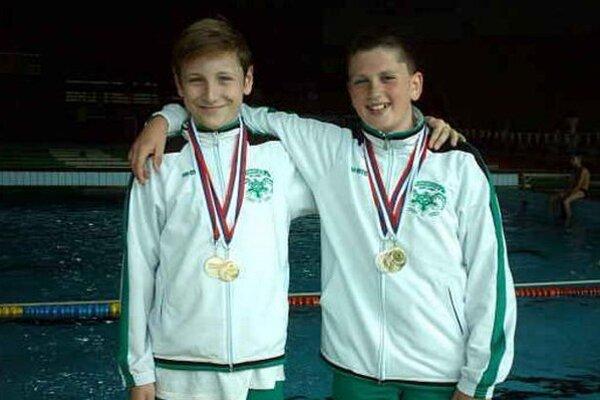 Zlatí znakári PKNZ, zľava Boris Habrda a Jakub Šebők.