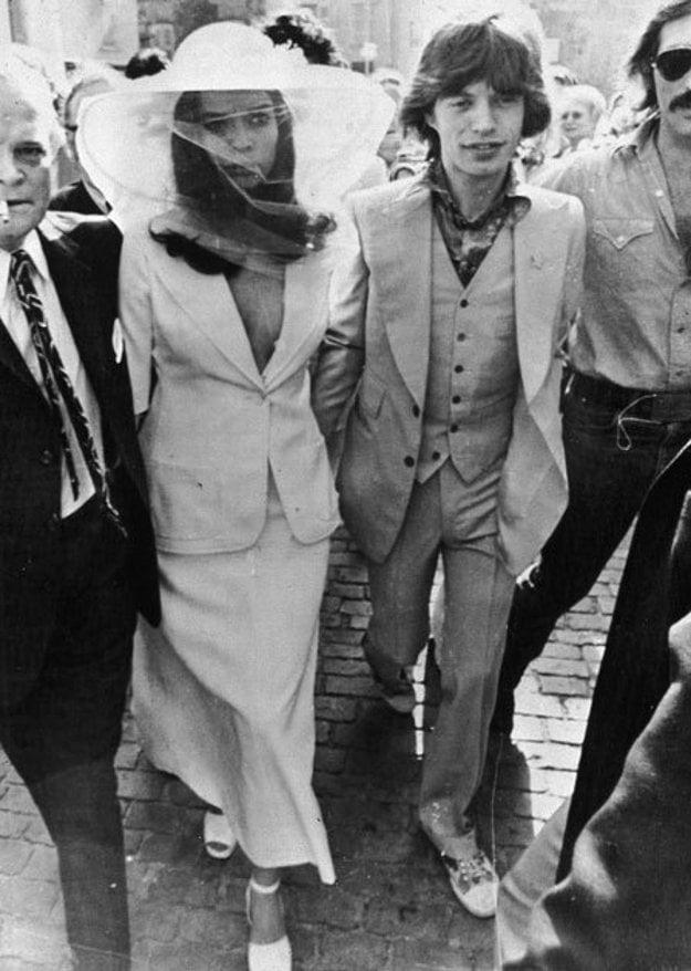 Svadba Micka Jaggera v roku 1971.