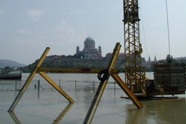 Dunaj v Štúrove pri záplavách pred niekoľkými rokmi.