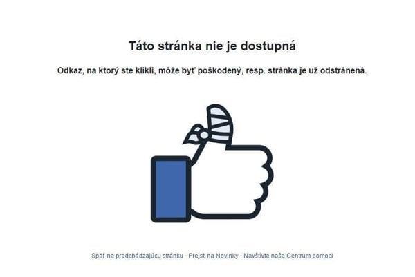 Nefunkčné facebooky.