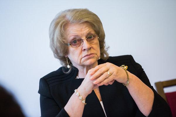Detská ombudsmanka Viera Tomanová.