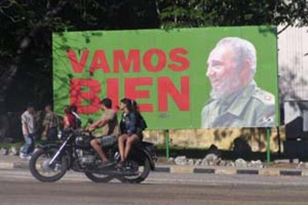 Fidel Castro na bilborde hovorí: Máme sa dobre.
