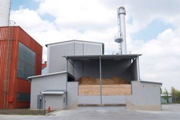 Nová kotolňa na biomasu.